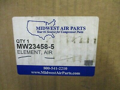 New Midwest Parts Mw23458-5 Quincy Air Filter Element