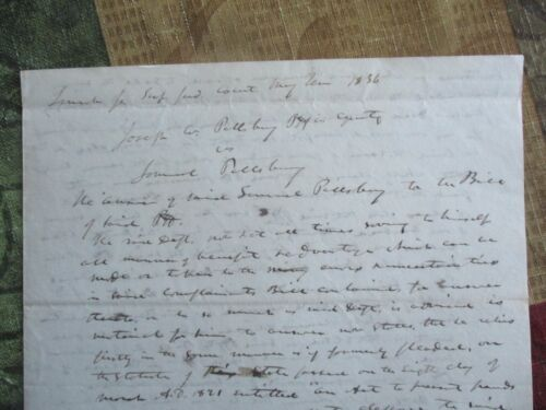 1836 Jonathan Cilley (Killed in a Duel Maine House of Reps) signed ADS document!