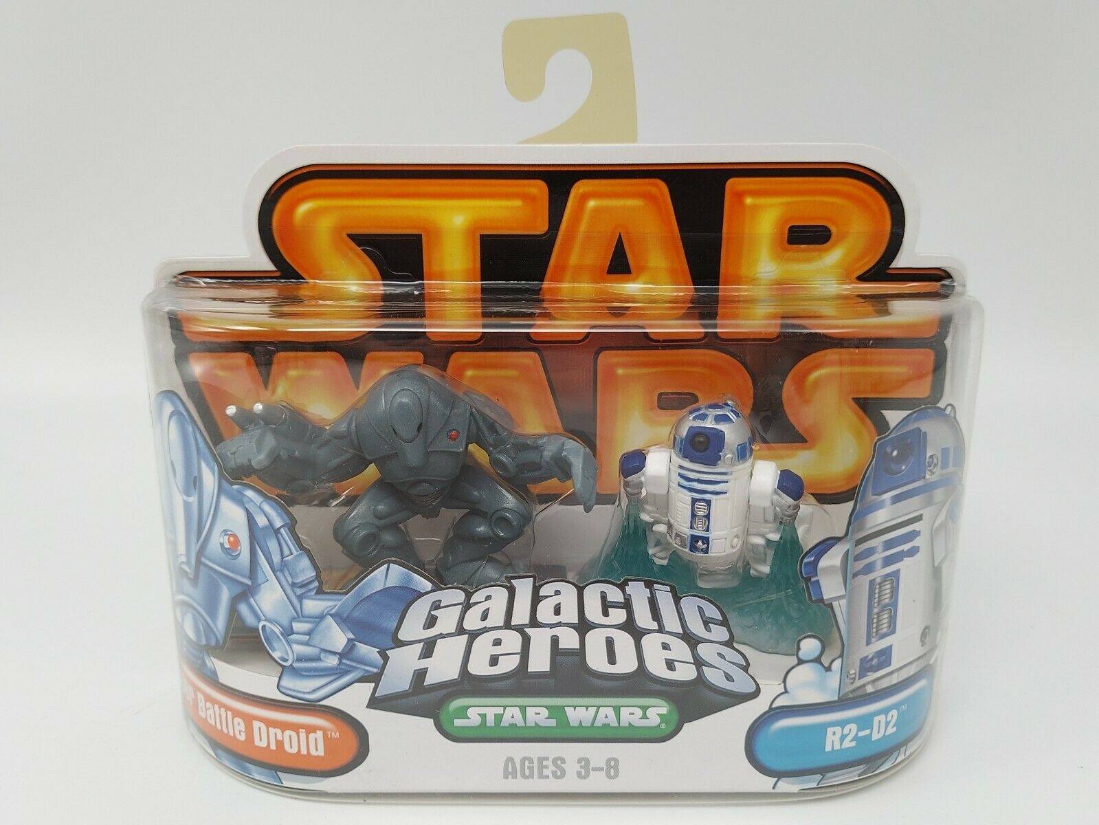 Star Wars Galactic Heroes R2D2 and Battle Droid 2 Pack - Factory Sealed