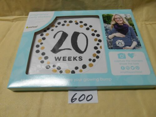 Pearhead Pregnancy Belly Stickers Weeks Record Baby Belly - 15 sticker