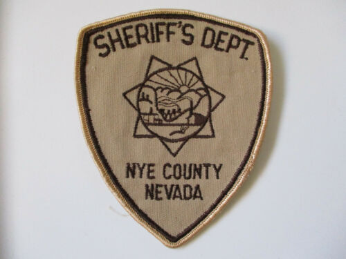 vintage 1970 era NYE County Sheriff