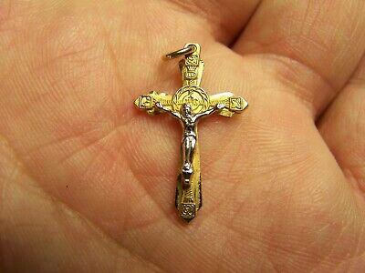 14K Gold Filled Crucifix two tone for Rosary or Necklace/Pendant PPC 14k Gold Filled Crucifix Necklace