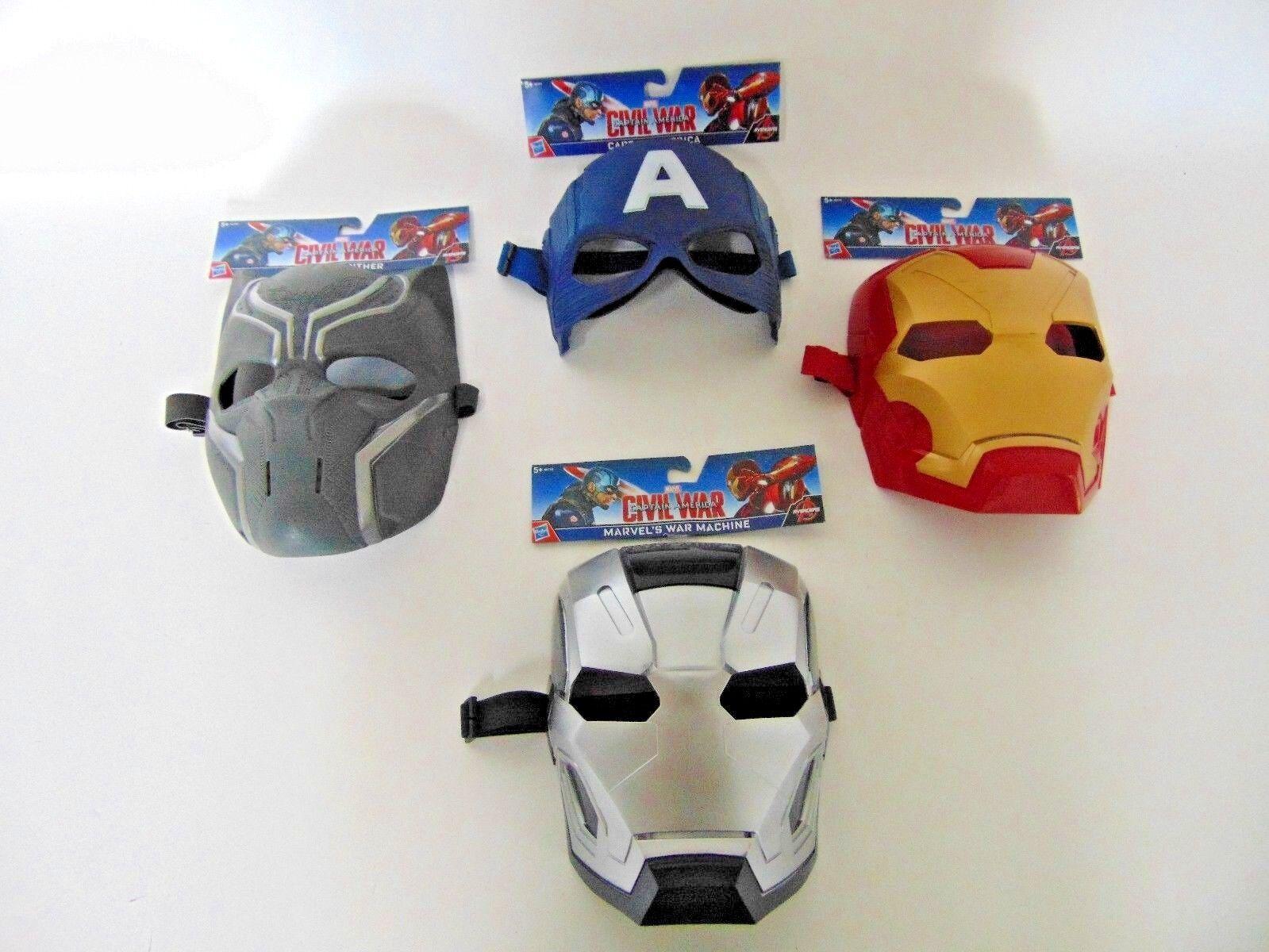 Hasbro Avengers Masken Kostüm Captain AmericaBlack Panther War Maschine Iron Man