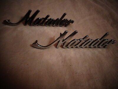 AMC Matador SST X Brougham Fender-Hood-Decklid Emblems Scripts 3633534