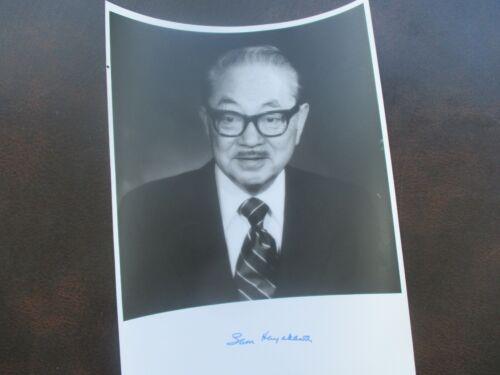 """1977 Samuel Hayakawa """"California Senator"""",Signed NICE Photograph!"""