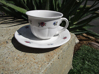 (Gibsons china Design Meridian Tea cup and saucer Floral oven and dishwasher safe)