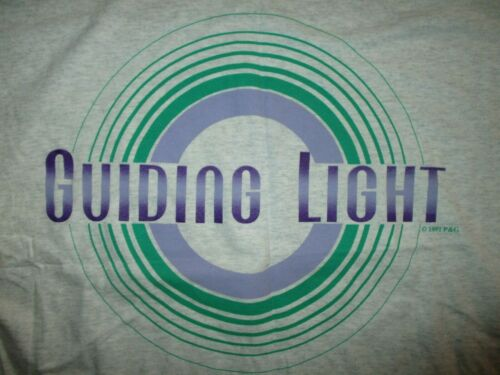 vtg 90s GUIDING LIGHT NIGHT SHIRT Pajama Sleep Wear Tee Soap Opera