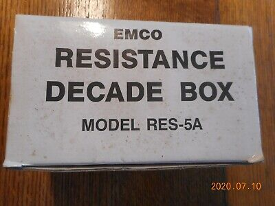 EMCO Resistance Decade Box - Model RES-5A - New old stock!