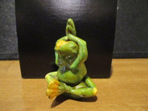 Harmony Kingdom Artist Neil Eyre 2006 Tie-Dye OMII Evt Exclusive Yoga Frog SGN