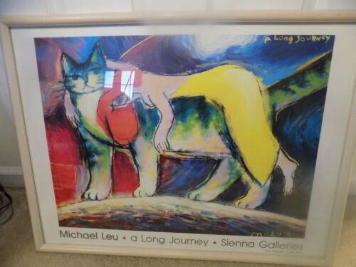 Vintage Michael Leu A Long Journey Sienna Galleries Signed 22x28 Framed Print