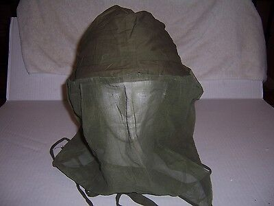 Snipers OD helmet & face cover head or mosquito net genuine U.S. vietnam war au