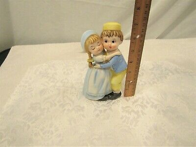 Vintage Boy And Girl Ceramic Figurines # 8002