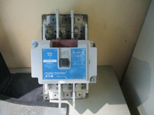 EATON/CUTLER-HAMMER CN15SN3 MOTOR STARTER SIZE5 110/120V COIL 99,9% CONTACTS