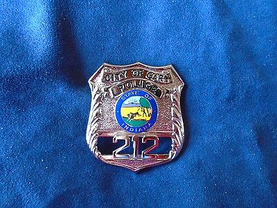 Vintage Antique Gary, IN Police Officer  Badge Obsolete Antique Rare Indiana
