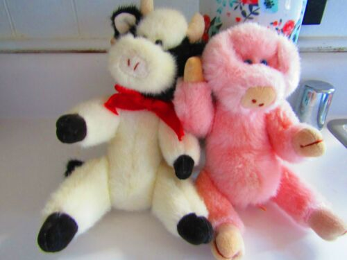 """Attic Treasure Set """"MADISON"""" the cow AND """"PENELOPE"""" the pig:"""