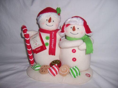 Hallmark 2008 Jingle Pals Seasons Treatings Candy Animated Singing Snowman w/Tag