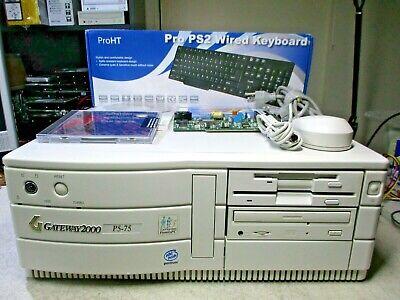 Gateway 2000 DOS Windows 3.11 95 98 Retro Computer 3.5 5.25 Floppy Sound Blaster