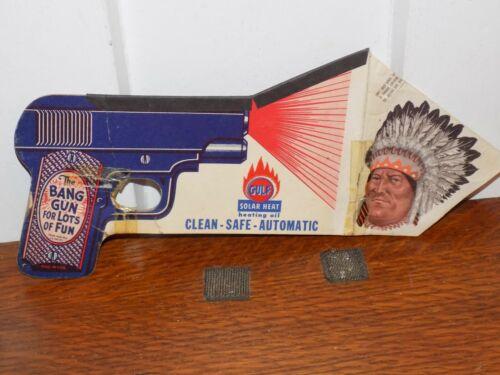 Vintage Gulf Solar Heat Heating Oil Cardboard Bang Gun