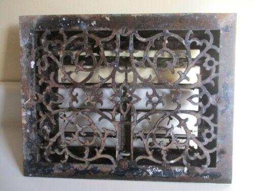 Vintage Decorative Antique Cast Iron Floor Heat Vent Grate Register