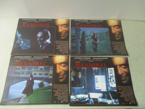 LOT OF 12 VINTAGE 2001 HANNIBAL MOVIE LOBBY CARDS ANTHONY HOPKINS