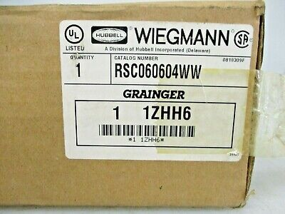 New Hubbell Wiegmann Steel Electrical Box Enclosure Rsc060604ww