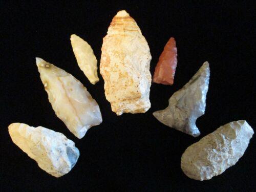 MEDINA CO OHIO Antique INDIAN Ancient ARTIFACTS Flint RELIC ARROWHEADS