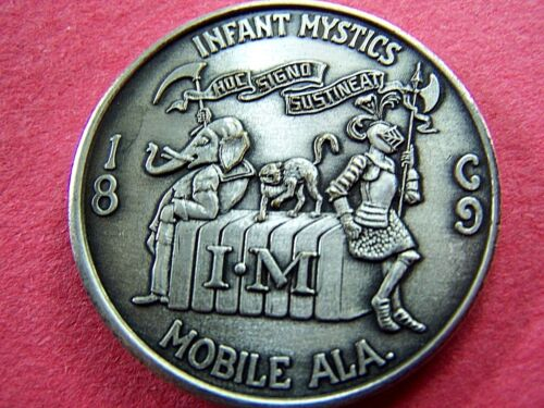 1966 Infant Mystics (HAS) Oxidized Silver Mardi Gras Doubloon-1st Year Issue