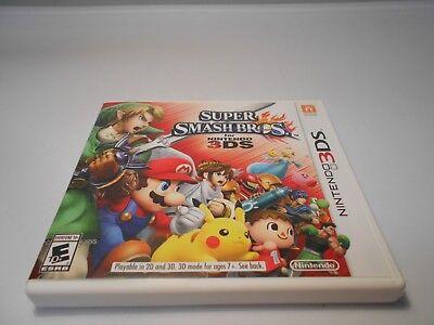 Super Smash Bros. (Nintendo 3DS) w/case & manual 2ds xl game