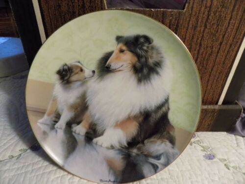 danbury mint sheltie plate with coa