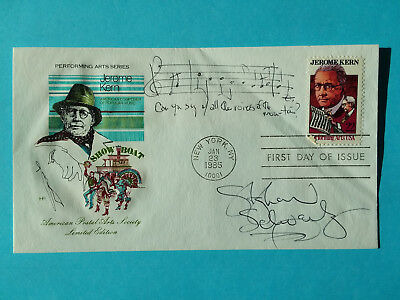 STEPHEN SCHWARTZ SIGNED FDC ADDED MUSICAL QUOTE FROM