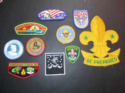 Lot of 10 boy scout patches #131