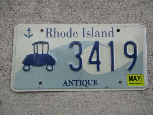Rhode Island 2016 Antique license plate #  3419