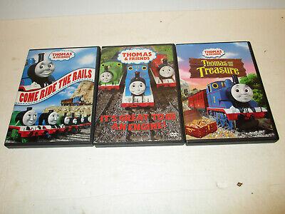 Lot of 3Thomas the Train & Friends DVDs Ride rails, Great Engine & Thomas Treasu