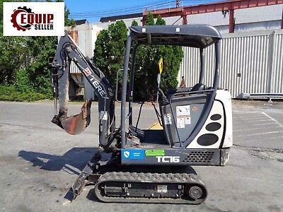 2013 Terex Tc16 Mini Excavator Loader Backhoe - Diesel - Low Hours