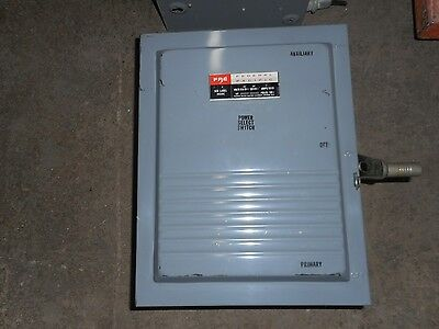 Federal Pacific Dt5122 100 Amp 250 Volt 1 Phase Indoor Transfer Switch
