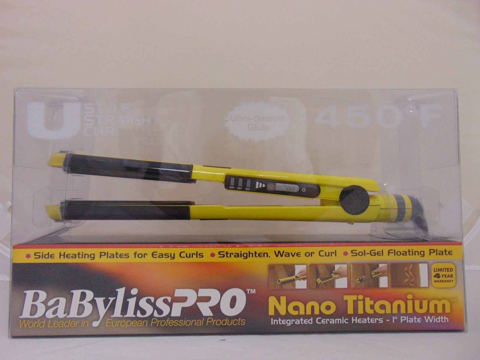 "BaByliss Pro Italia Brava Nano Titanium U-Styler 1"" - BABY20"