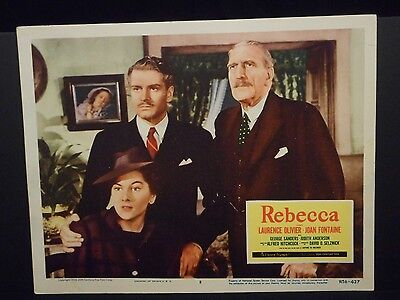 Alfred Hitchcock Rebecca 1956 R Lobby Card # 8 Laurence Olivier Joan Fontaine