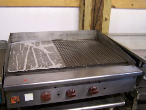 "WOLF 36"" PARTIALLY GROOVED GRIDDLE"