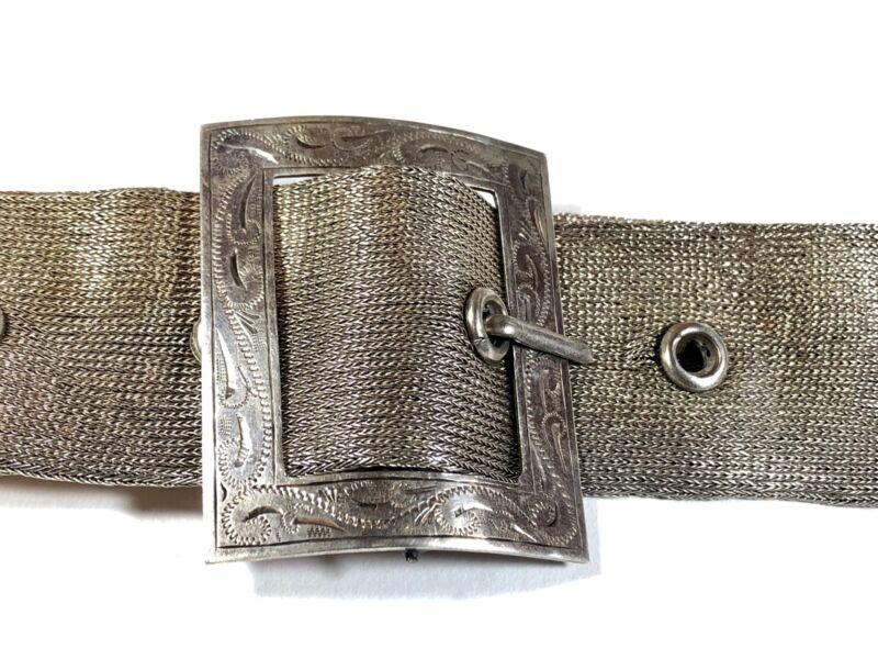 Vintage Ladies Western Solid Sterling Silver Belt - A MUST SEE!