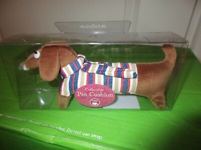 Dachshund Sausage Wiener Dog Sewing Pin Cushion - Collectible NEW in Box