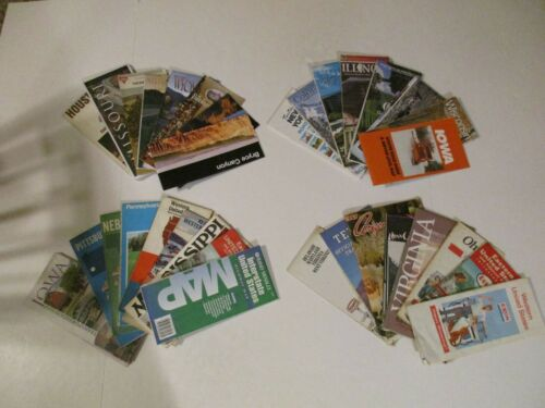 Lot of 33 Conoco Gulf State Highway Travel Road Maps & Brochures