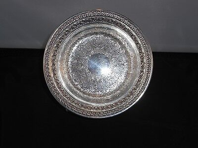 Reed & Barton silver-plated small dish with Rococo design