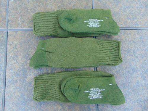 U.S. Military O.D. wool cushion sole boot socks 3-pack M 10 1/2-11 1/2,free ship