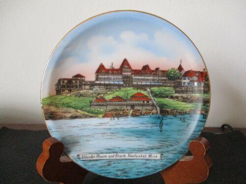 Circa 1915 Souvenir Porcelain Dish Atlantic House Beach Nantasket Massachusetts