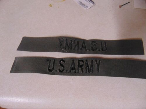 MILITARY PATCH CLOTH SEW ON OLDER US ARMY NAME TAPE VIETNAM ERA BUT NEVER USED