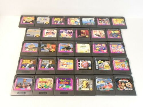 Sega Game Gear Game Lot of 31 No Duplicates Collection With Dust Covers Tested