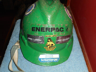 Vtg Oil Drilling Helmet Enerpac Houston Louisiana Schlumberger Superior Oil Ect