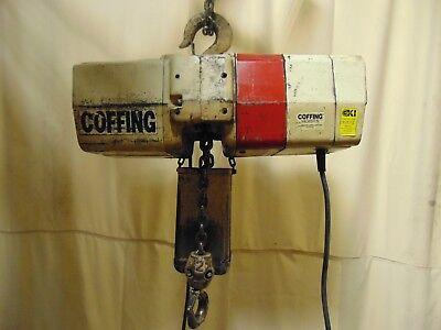 - Coffing 2 Ton 4,000 lb Electric Chain Hoist Lift