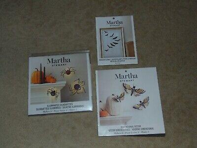 MARTHA STEWART HALLOWEEN FALL CRAFTS - SPIDERS, BUTTERFLIES, BATS - FREE SHIP
