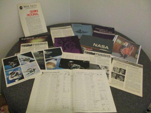 NASA ORIGINAL GEMINI MERCURY MSFC BOOK PICTORIAL POSTER BOOKLETS PHOTOS